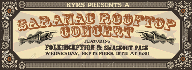 Saranac Pub Rooftop Benefit Concert featuring Folkinception