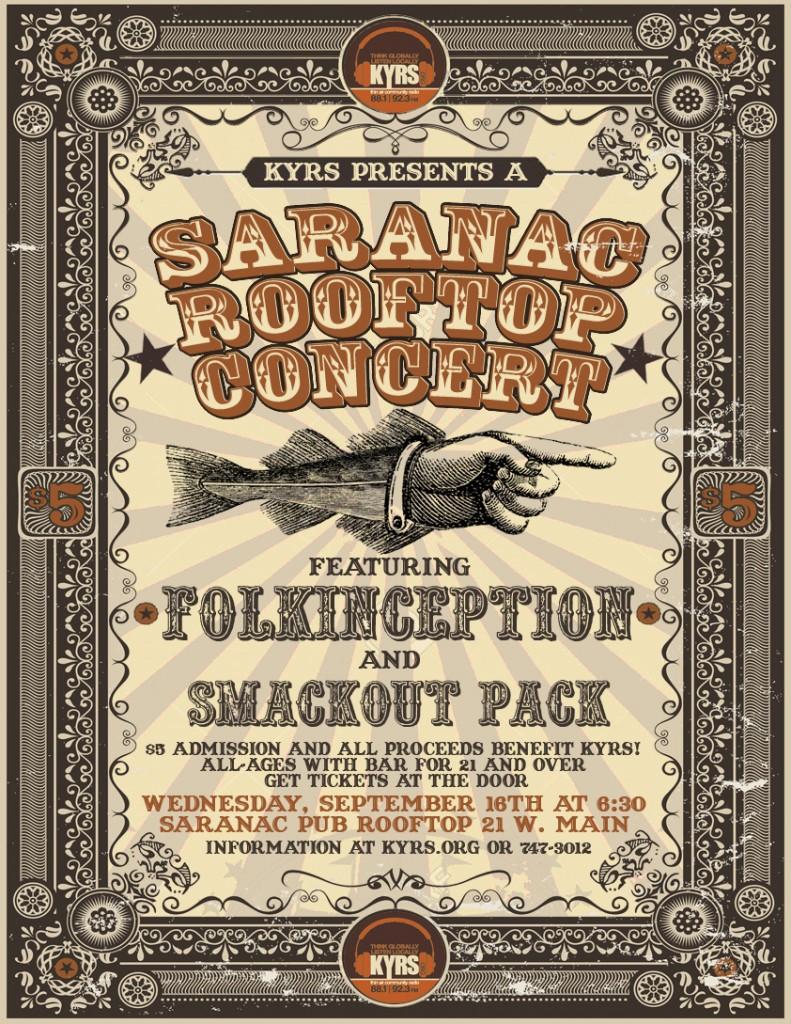 Saranac Pub Rooftop Benefit Concert @ Saranac Pub Rooftop